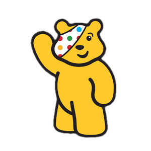 children in need pudsey bear stampette