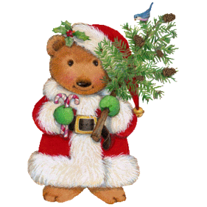 Christmas Teddy Bear With Tree stampette avatar image