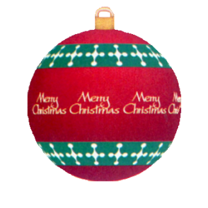 Merry Christmas Bauble stampette avatar image