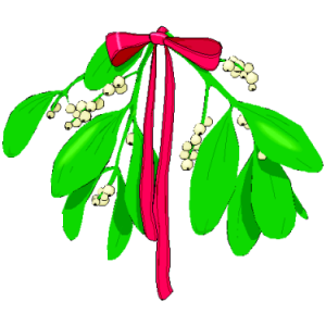Christmas Mistletoe And Bow stampette avatar image