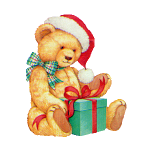 Christmas Teddy with Parcel stampette avatar image