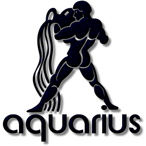 Aquarius Zodiac Sign Navy stampette avatar image