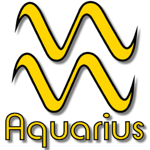 Aquarius Zodiac Sign Yellow stampette avatar image
