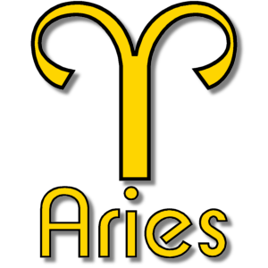 Aries Zodiac Sign Yellow stampette avatar image