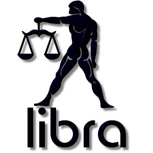 Libra Zodiac Sign Navy - People And Places - Add a free stampette logo