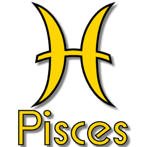 Pisces Zodiac Sign Yellow stampette avatar image