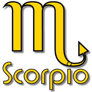 Scorpio Zodiac Sign Yellow stampette avatar image