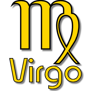 Virgo Zodiac Sign Yellow stampette avatar image
